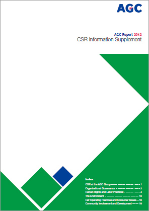 AGC Report 2012 CSR Information Supplement