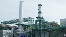 Gas turbine power generation equipment installed at AGC Chiba Plant in 2013
