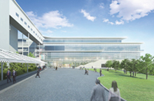 Artist rendering of the new research facility
