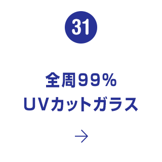 31. 全周99% UVカットガラス